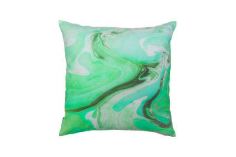 Bambury Marble Cushion - 50 x 50cm - Filled - Green