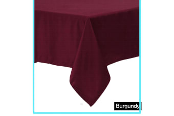 Polyester Cotton Tablecloth Burgundy 180 x 310 cm