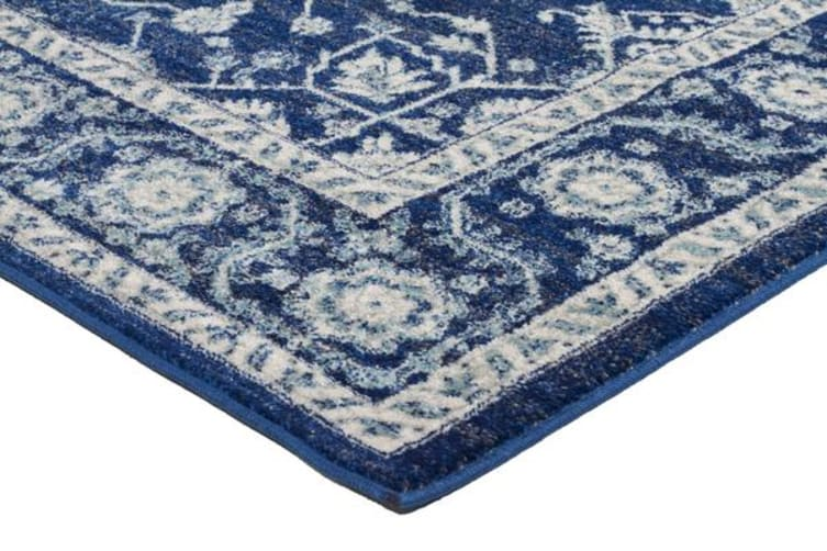 Release Navy Transitional Rug 500x80cm