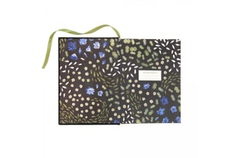 Ohh Deer Floral Primordia A5 Cloth Bound Notebook (Multi/Floral) (One Size)