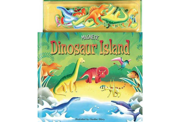 Magnetic Dinosaur Island Play Book