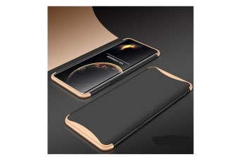 Frosted Shield Matte Plastic Ultra Thin Shockproof Case For Oppo Find X Gold+Black R9S