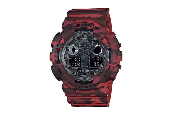 Casio G-Shock Ana-Digital Watch - Red Camouflage (GA100CM-4A)
