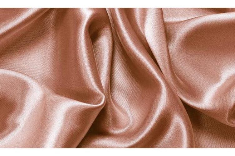 Luxury Super Soft Silky Satin Fitted/ Flat Sheet Pillowcases Bed Set CHAMPAGNE Queen