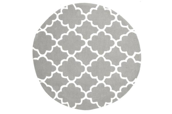 Kids Trellis Design Rug Grey 120x120cm