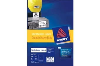 AVERY HD VINYL 199.6X289.1MM 25 SHEETS