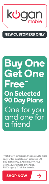 Kogan Mobile - Buy One Get One Free Kogan Mobile Offer