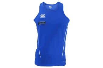 Canterbury Mens Team Dry Sleeveless Singlet Sports Vest (Royal/White)