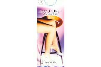 """Couture Womens/Ladies Nylon 15 Denier Tights (1 Pair) (Natural) (One Size (5ft1""""-5ft9""""))"""