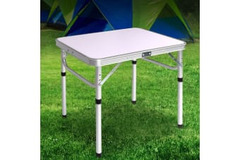 Weisshorn Folding Camping Table Portable Laptop PC Bed Dining Desks Picnic Garden Aluminium
