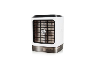 Mini Desktop Air Cooler Humidifier Ambient Lamp Usb Air Conditioning Fan - White White No Remote Control