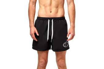 Champion Men's Logo Short (Black/White, Size XL)