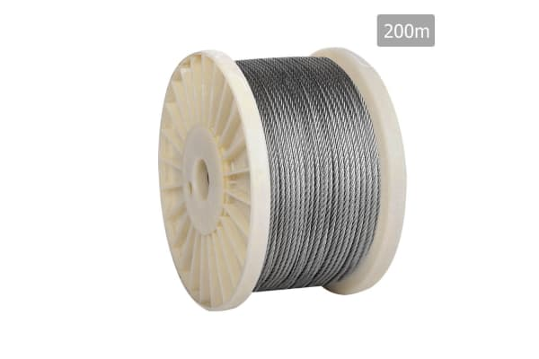 7 x 7 Marine Stainless Steel Wire Rope 200M