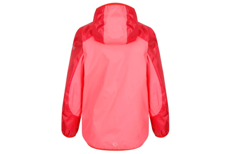 Regatta Childrens/Kids Teega II Hooded Waterproof Jacket (Fiery Coral) (9-10 Years)