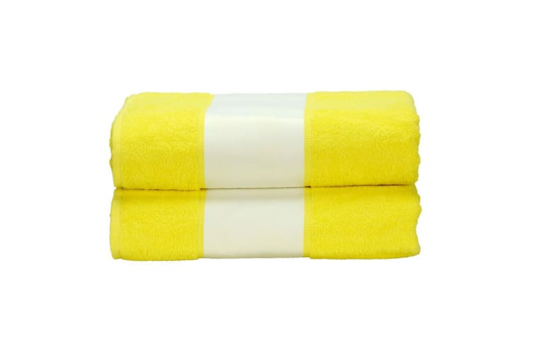 A&R Towels Subli-Me Bath Towel (Bright Yellow) (One Size)