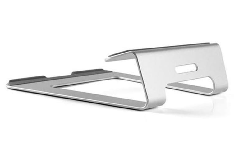 "Universal 11"" - 15"" Macbook Laptop Stand Aluminum Alloy Ergonomic Silver"