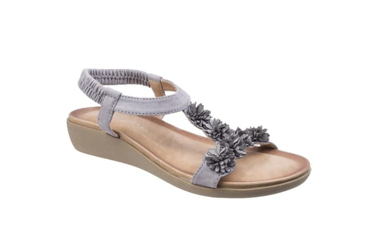 Fleet & Foster Womens/Ladies Matira T-Bar Slingback Sandals (Grey) (4 UK)