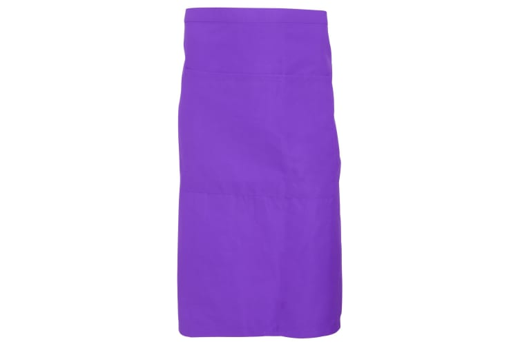 Dennys Adults Unisex Catering Waist Apron With Pocket (Pack of 2) (Purple) (One Size)