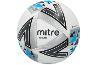 Mitre Ultimatch 2018 Size 5 Stitched PVC 20 Panel Match Ball Soccer/Football WHT