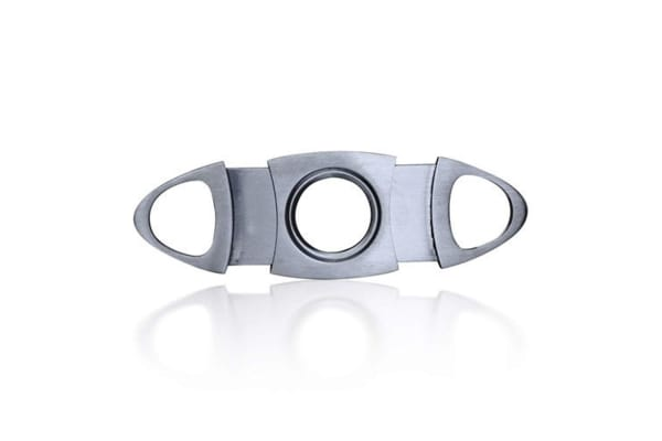 Double Blade Guillotine Style Cigar Cutter Stainless Steel