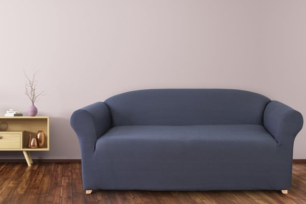 SureFit Diamond Stitch 2 Seater Sofa Cover (Navy)