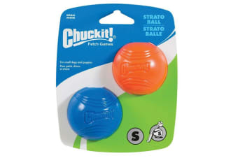 ChuckIt Small 2 Pack of Strato Dog & Puppy Ball Toys for Small Chuck It Thrower