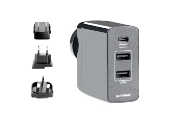 mBeat Gorilla Power USB-C PD World Travel Charger/Charge for iPhone Macbook/iPad
