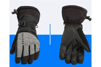 Ski Gloves,Winter Warm Waterproof Snow Gloves For Skiing,Snowboarding Black L