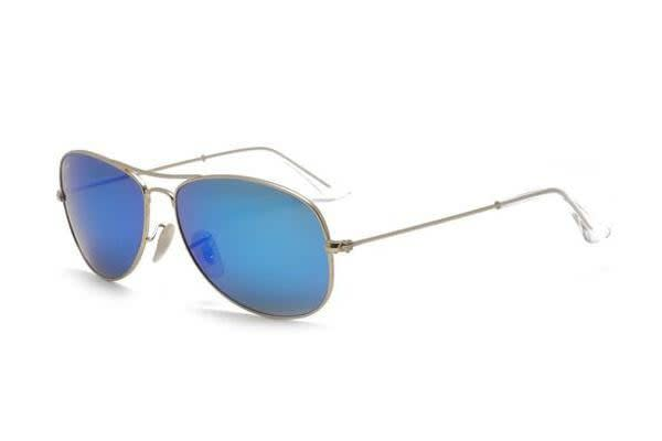 Ray Ban RB3362 - Matte Gold (Mirror Blue lens) / 59--14--135 Unisex Sunglasses