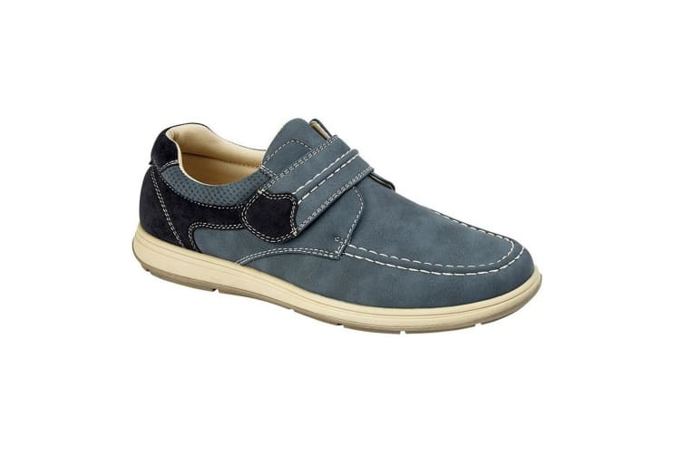 Scimitar Mens Touch Fastening Casual Shoe (Navy) (12 UK)