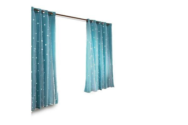 Star Blockout Curtain in BLUE 180X180CM