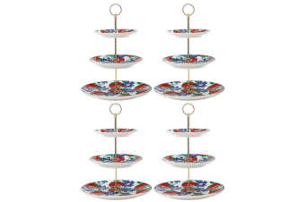 4PK Maxwell & Williams Teas & C's 3 Tier Cupcake Cake Stand Passion WHT
