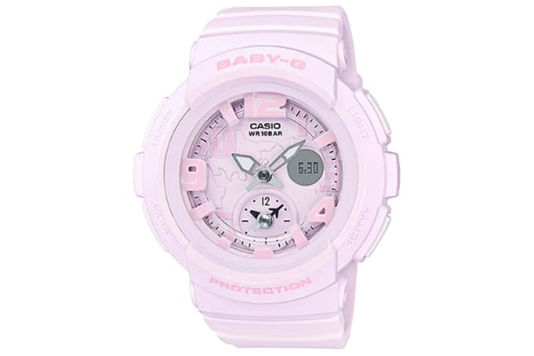 Casio Baby-G Female Pink Analogue/Digital Beach Traveler Series Watch BGA190BC-4B BGA-190BC-4BDR