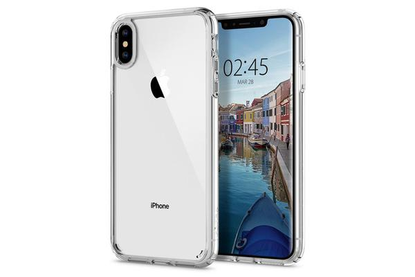 "Spigen iPhone XS Max (6.5"") Ultra Hybrid Case, Crystal Clear,"