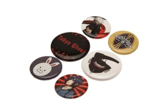 Tokyo Ghoul Button Badge Set (Multicoloured) (One size)