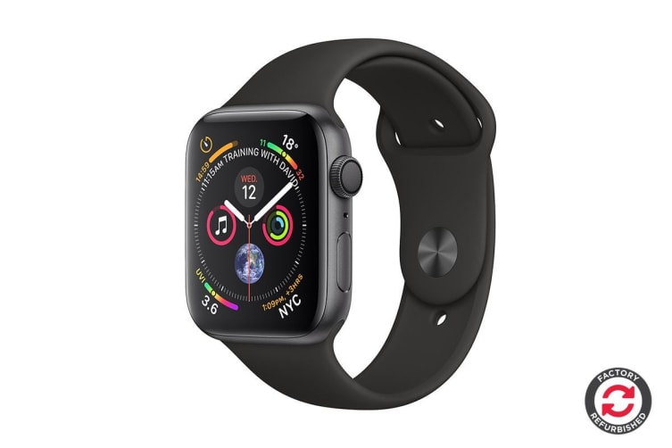 Apple Watch Series 4 Refurbished (Space Grey, 40mm, Black Sport Band, GPS Only) - A Grade