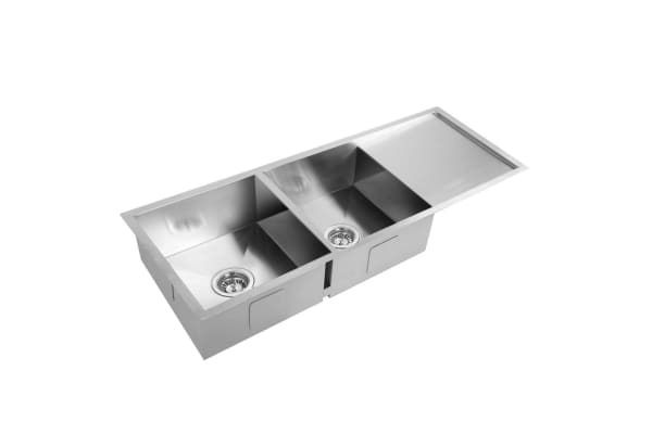 Stainless Steel Kitchen/Laundry Sink with Strainer Waste 1114 x 450mm