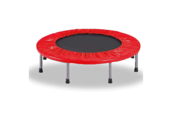 """38"""" Mini Trampoline Jogger Rebounder Home Gym Workout Fitness Red"""