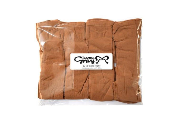 Joanna Gray Womens/Ladies  Knee Highs (10 Pairs) (Natural) (One Size)