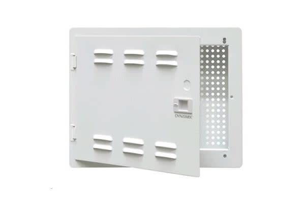 """Dynamix HWS-1404V2 14""""  Network Enclosure      Recessed Wall Mount with Vented Lid Cable & GPO"""