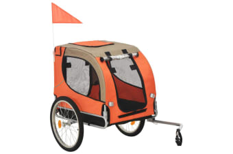 vidaXL Dog Bike Trailer Orange and Brown