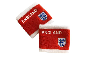 England FA Wristbands (Set Of 2) (Red) (One Size)
