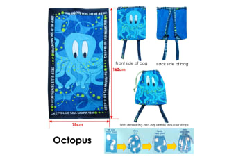 Extra Large Beach Towel N Bag Octopus