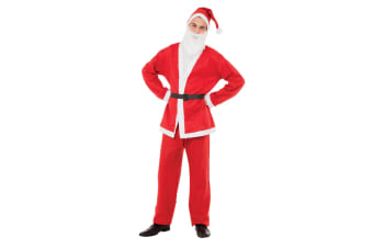 Bristol Novelty Unisex Adults Santa Suit (Red/White) (One Size)