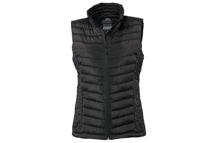 Tee Jays Womens/Ladies Padded Zepelin Vest Jacket / Gilet (Black) (2XL)