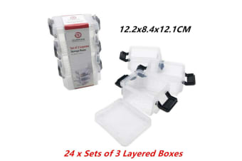 72PCS Stack n Lock Storage Container Box Food Clear Air Tight 12x8.4x12CM
