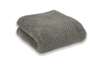 Apartmento Diamond Fleece Blanket (Grey)