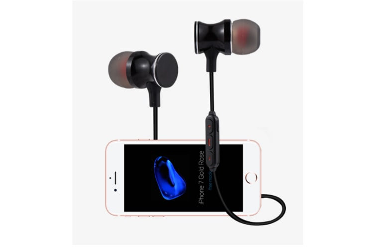 Magnetic Wireless Earbuds With Build-In Microphone Grey