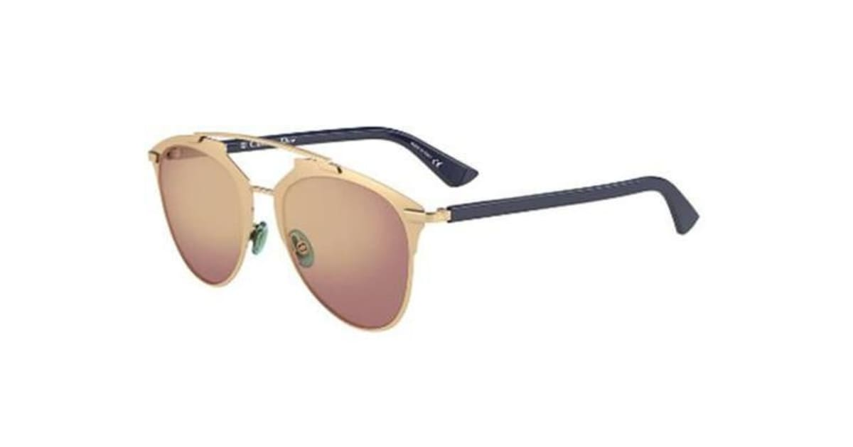 3985151ff1 Christian Dior Reflected 52mm - Rose Gold Blue (Gold Shaded Mirror lens)  Womens Sunglasses - Kogan.com