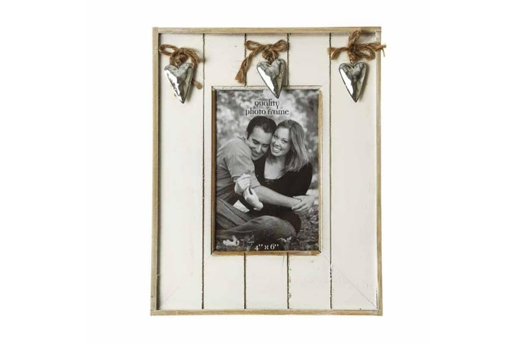 Photo Frame With Hearts (White) (20 x 20 x 1.5cm)